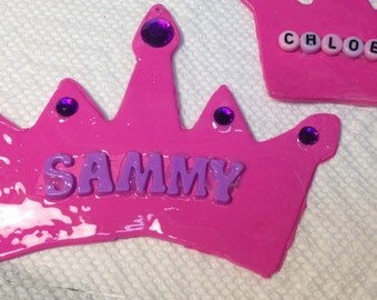 Polymer clay Personalized princess ornament/gift tag