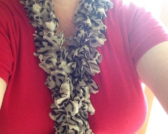 Handknitted Material Scarves