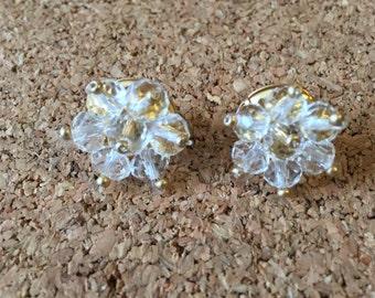 Crystal Beaded Stud Earrings
