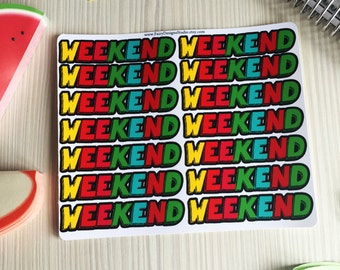 Weekend Planner Stickers