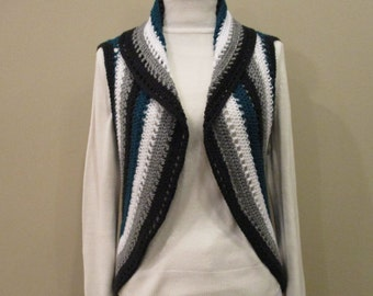 Ready to ship Beautiful crocheted Cross Bolero.Jewel embellishment.Teal,white,gray, black.Any occasion.(Headband not included, sold in Acc)