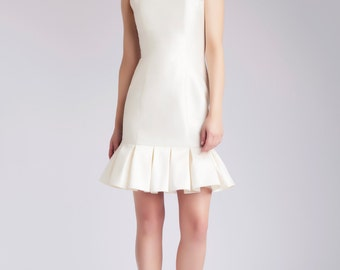 Silk wedding dress, short dress - Diba dress by Hanieh Fashion