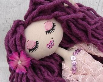 Allana, rag doll (rag doll, handmade doll, ooak doll)
