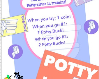 Potty Training Bucks & Coins!! (PDF Printable!)