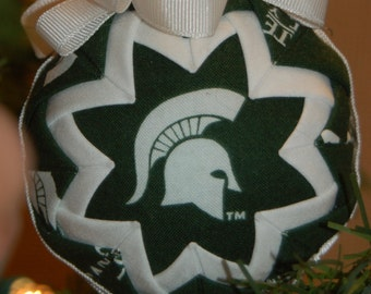 Michigan State Spartans Football Folded Star Christmas Ornament