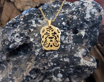 Golden Shar Pei Necklace, Shar Pei Necklace, Shar Pei Art, Dogs Necklaces, Dogs Pendants, Shar Pei Gifts, Shar Pei Tag, Shar Pei Dog