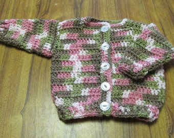 Pink Camouflage Baby Sweater size 3-6 months