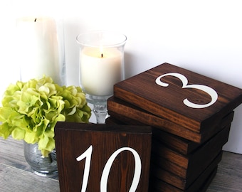 Wood Table Numbers - Wedding Table Numbers - Rustic Table Numbers - Reception Table Decor - Garden Wedding Decor - Rustic Reception Numbers