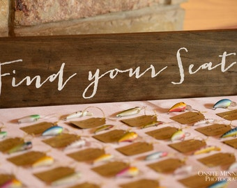Wedding Reception Sign- Find Your Seat- Wood