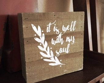 It is Well Wood Shelf Decor
