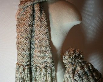 Mountain Sky Scarf W/Fringe - Matching Hat Sold Separately