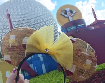Epcot Food and Wine Festival Ears, Wine Glass ears, Minnie ears, Mickey ears, Disney World Ears, Epcot Ears