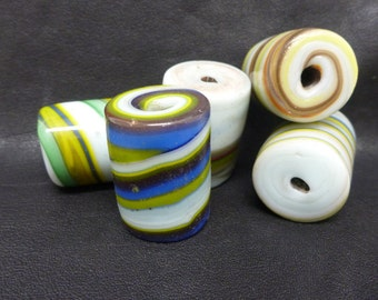 Glass Beads, Striped glass beads