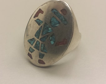 Vintage Sterling Silver .925 Native American Ring