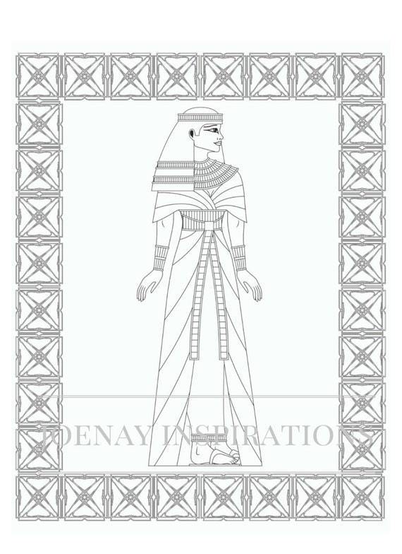 Adult Coloring Book, Printable Coloring Pages, Coloring Pages, Coloring Book for Adults, Instant Download, Egyptian 2 page 7