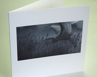 Wildlife blank greetings card designed by Cy Baker. Fine art stationery showcasing the natural world