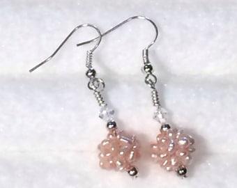 Freshwater Pearl Cluster dangle Earrings