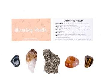 Wealth Crystal Set / Abundance Crystal Set / Crystals For Wealth / Crystals for Abundance / Abundance Stones / Wealth Stones / Success