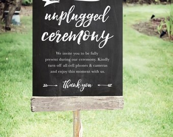 """Unplugged Wedding Sign 