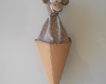 Cone monkey puppet