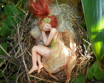 Orchid Faery -  OOAK Polymer clay