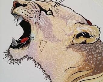 lioness gloss print
