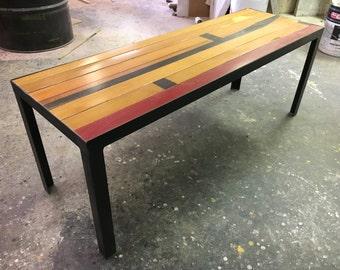 Gym Floor Coffee Table Reclaimed Maple Basketball CUSTOM
