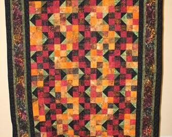 Batik and Black Quilt