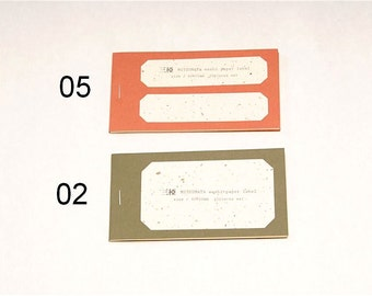 Classiky Mitsumata (raw Surfaced) Washi Label Book