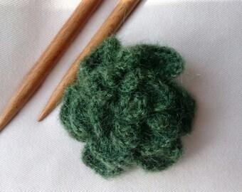 Green Crochet Flower Hair Tie & Accessory