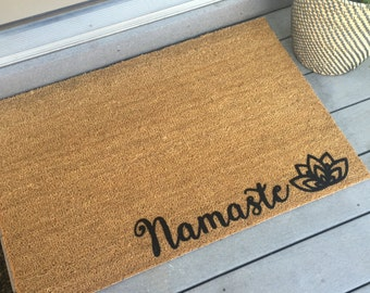 Door mat - Doormat - Custom Gift - Yoga Lover Gift - Welcome Mat - Yoga Decor -Namaste - Yoga Gift - Friend Gift - Yoga Lover