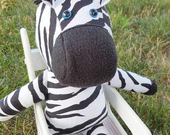 Ziggy the Zebra, plush, doll, animal, plushie, softie