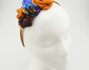 Headband (brown, blue, black)