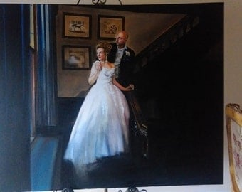 Commission an oil painting of your Wedding Photography