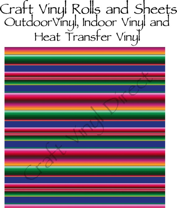 Beautiful, Vibrant Patterned Craft Vinyl and Heat Transfer Serape Pattern 225