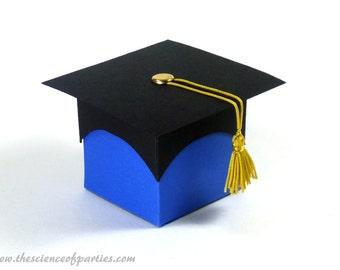 Blue graduation favor box