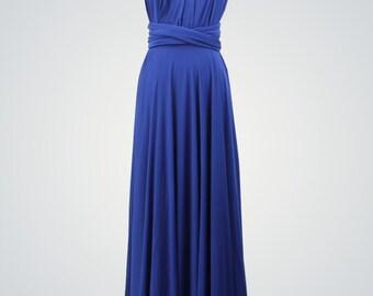 Royal Blue Long Evening Dress,Royal Blue Dress,Ball Gown,Infinity Dress,Bridesmaid Dress,Convertible Formal Dress,Blue Evening Dresses