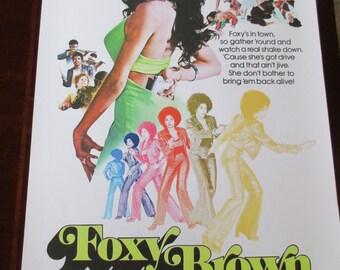 Foxy Brown Movie Poster 24x36in Pam Grier Blaxploitation