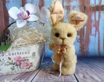 Stuffed animals Teddy OOAK Bunny Rabbit girl Artist bears Сollection toy Plush teddy Bunny Rabbit by Master SnezhanaDolls