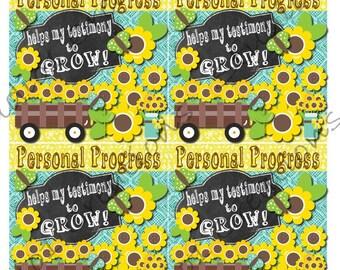 Young Women Personal Progress Sunflower Handout