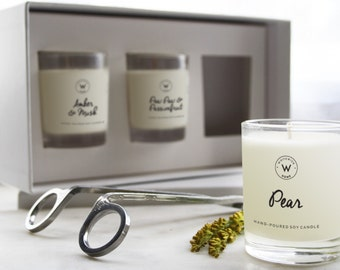 3-pack Small Scented Soy Wax Candles *choose your fragrances