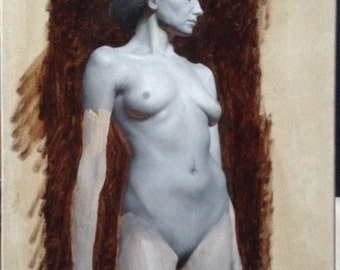 "Original Painting ""Grisaille of Irene"""