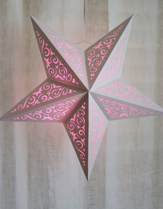 paper star lantern w scroll cutouts svg cutting file pdf