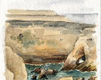 """4""""x6"""" Original Watercolor Painting"""