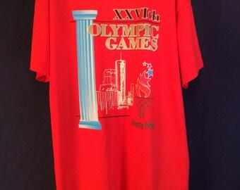 Vintage Olympics Atlanta 1996 Red T-shirt XL