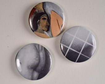 Art/Design 3-Pack Pinback Buttons