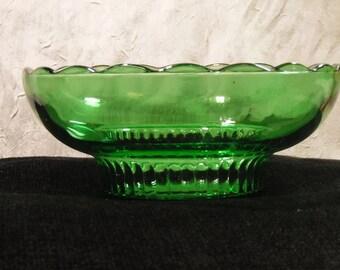 Green Glass E.O. Brody Bowl 1960's