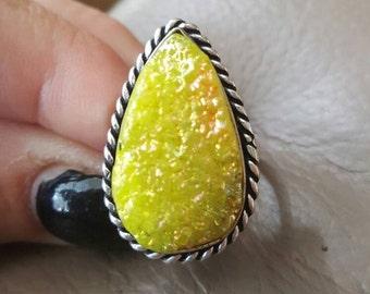 Titanium Druzy Ring-size 9.5!