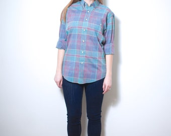 Vintage Christian Dior Plaid Shirt