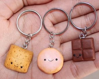 Smores 3 Best Friends Keychains - Polymer Clay